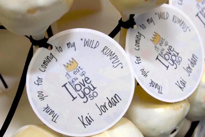 "Favor tags from a ""Where the Wild Things Are"" Inspired Baby Shower via Kara's Party Ideas 
