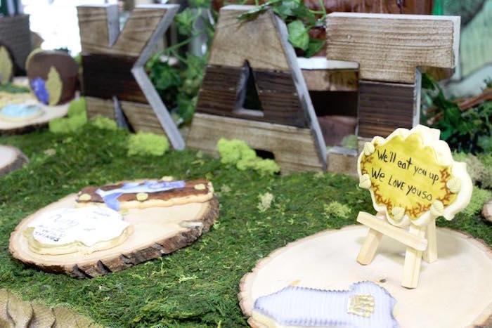 "Table details + cookies from a ""Where the Wild Things Are"" Inspired Baby Shower via Kara's Party Ideas 