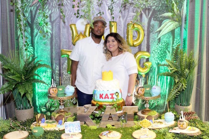 """Dessert table from a """"Where the Wild Things Are"""" Inspired Baby Shower via Kara's Party Ideas 