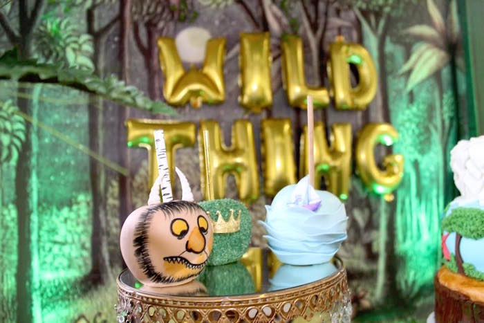 """Gourmet apples from a """"Where the Wild Things Are"""" Inspired Baby Shower via Kara's Party Ideas 