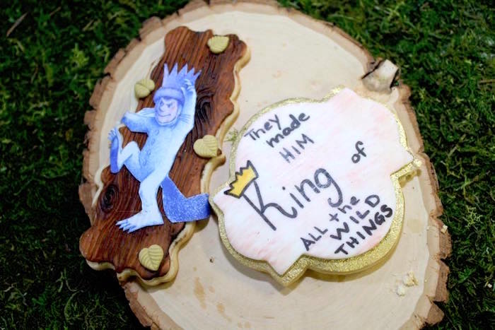 """Cookies from a """"Where the Wild Things Are"""" Inspired Baby Shower via Kara's Party Ideas 