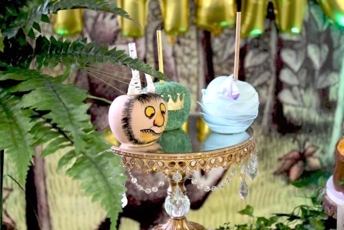 gourmet apples from a where the wild things are inspired baby sho