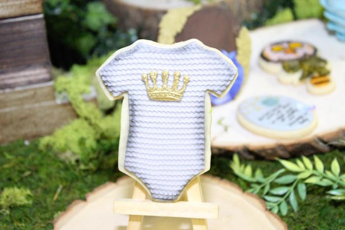 "Wild Thing onesie cookie from a ""Where the Wild Things Are"" Inspired Baby Shower via Kara's Party Ideas 