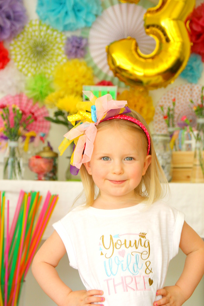 "Young, wild and three, tee from a ""Wild & Three"" 3rd Birthday Party on Kara's Party Ideas 