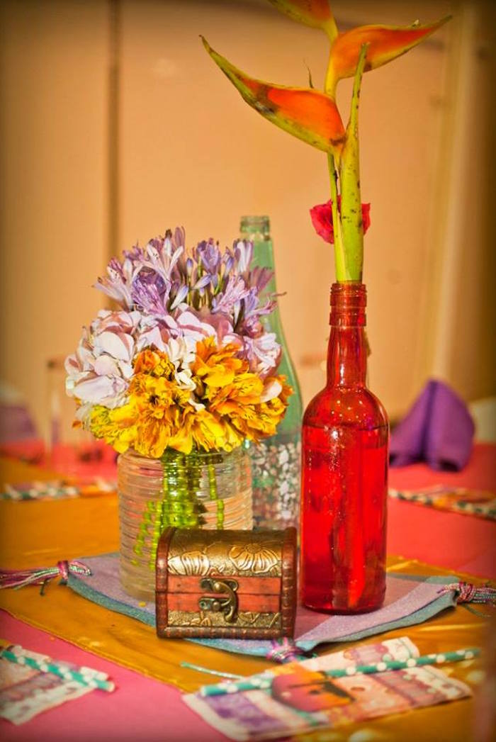 Guest table centerpieces from an Arabian Nights Birthday Party on Kara's Party Ideas | KarasPartyIdeas.com (13)
