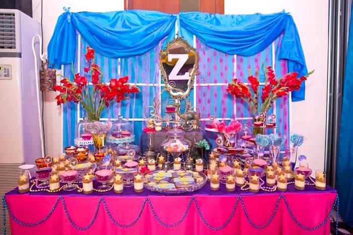 Arabian dessert table for an Arabian Nights Birthday Party on Kara's Party Ideas   KarasPartyIdeas.com (9)