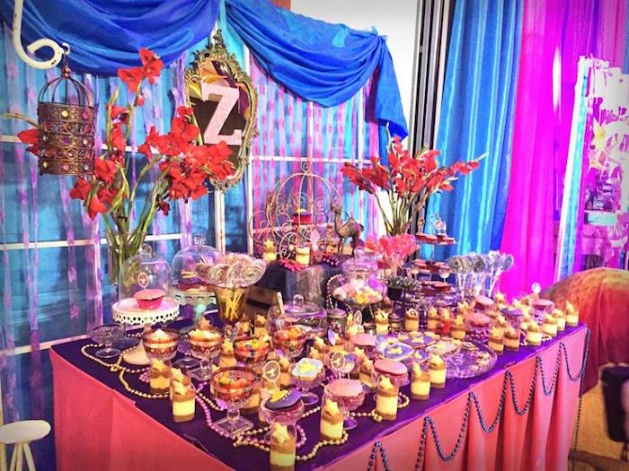 Arabian sweet table from an Arabian Nights Birthday Party on Kara's Party Ideas   KarasPartyIdeas.com (24)