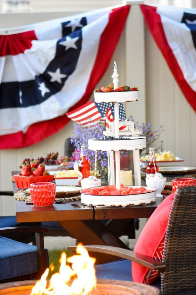 Backyard Patio Makeover And 4th Of July BBQ By Karas Party Ideas  KarasPartyIdeas.com For Lowes 84 683x1024