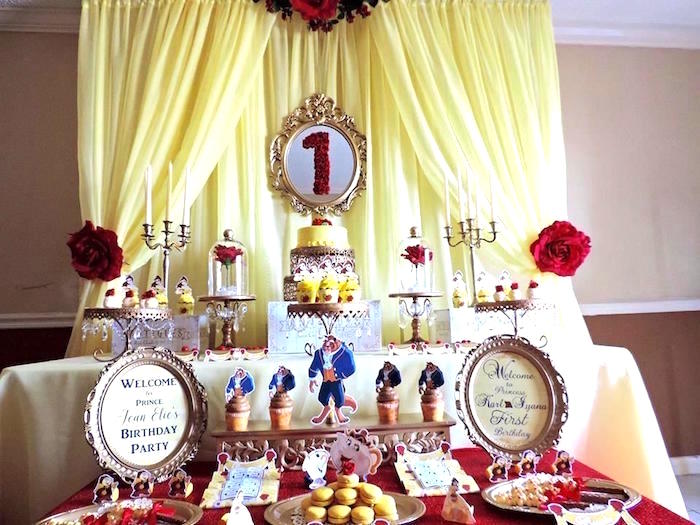 Beauty and the Beast 1st Birthday Party on Kara's Party Ideas | KarasPartyIdeas.com (22)