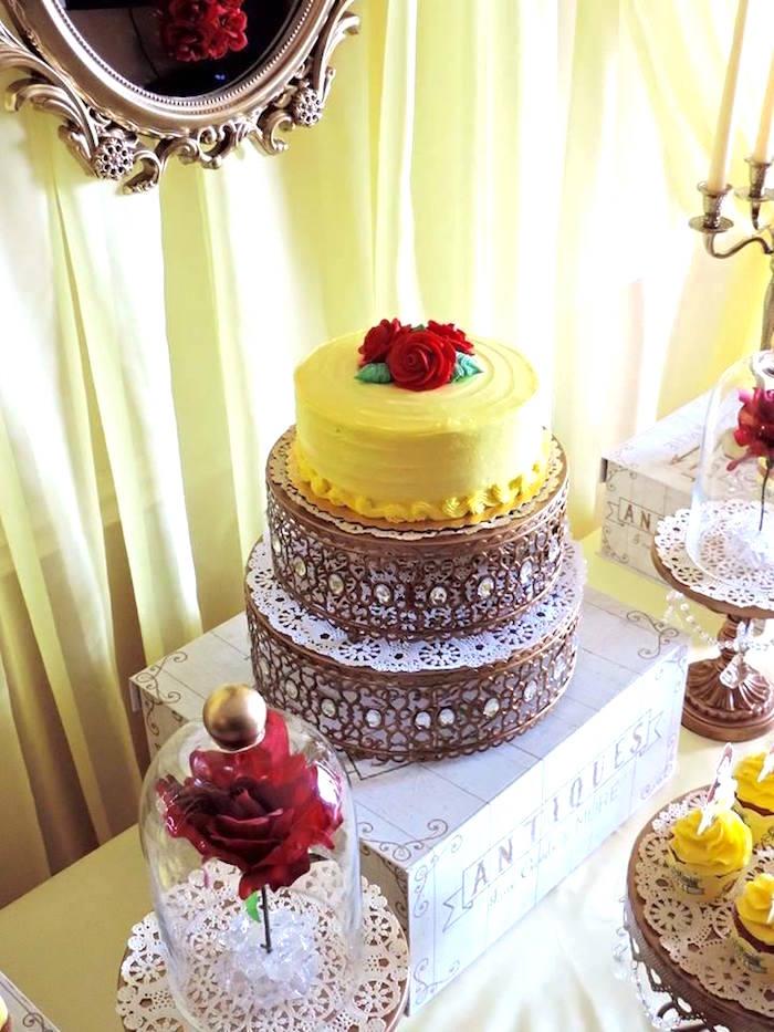 Kara S Party Ideas Charming Beauty And The Beast 1st Birthday