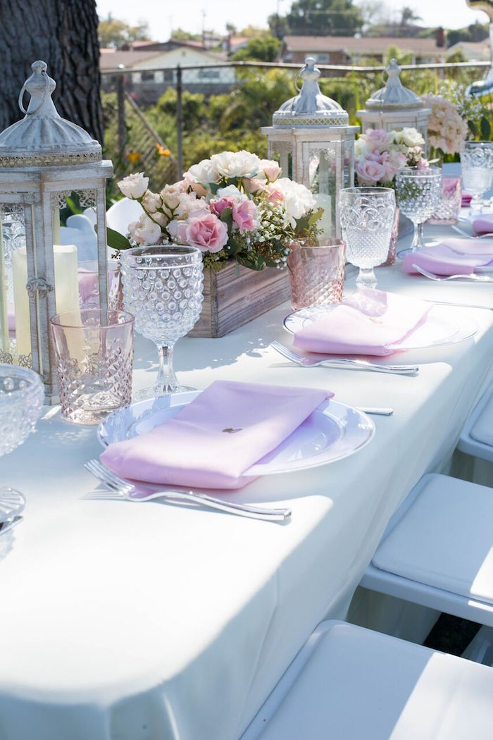 Place settings from a Boho Rustic Chic Engagement Party on Kara's Party Ideas | KarasPartyIdeas.com (32)
