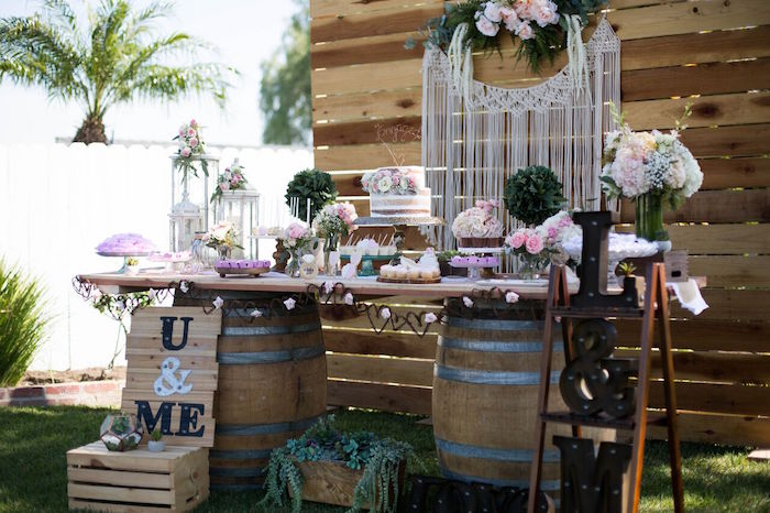 Kara S Party Ideas Boho Rustic Chic Engagement Party
