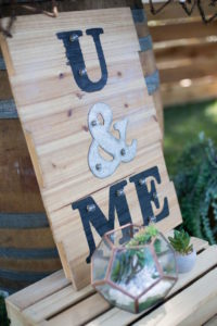 U & Me sign from a Boho Rustic Chic Engagement Party on Kara's Party Ideas | KarasPartyIdeas.com (26)