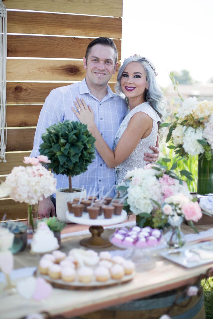 Love birds from a Boho Rustic Chic Engagement Party on Kara's Party Ideas | KarasPartyIdeas.com (25)