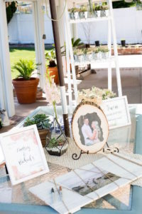 Entrance table + decor from a Boho Rustic Chic Engagement Party on Kara's Party Ideas | KarasPartyIdeas.com (21)