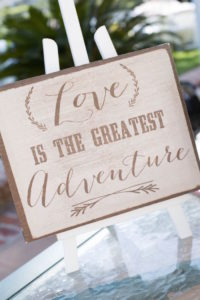 Wooden Love is the Greatest Adventure sign from a Boho Rustic Chic Engagement Party on Kara's Party Ideas | KarasPartyIdeas.com (19)
