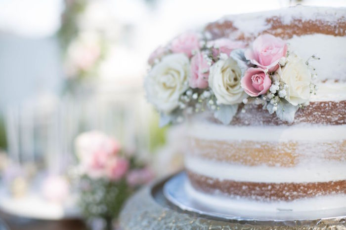 Cake from a Boho Rustic Chic Engagement Party on Kara's Party Ideas | KarasPartyIdeas.com (15)