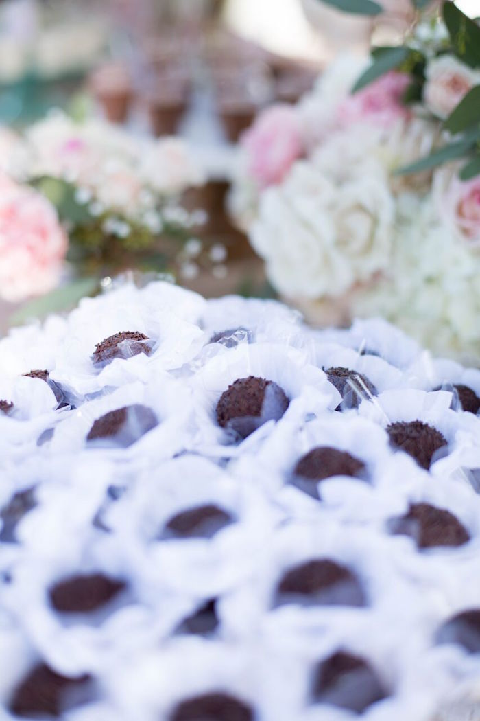 Truffles from a Boho Rustic Chic Engagement Party on Kara's Party Ideas | KarasPartyIdeas.com (14)