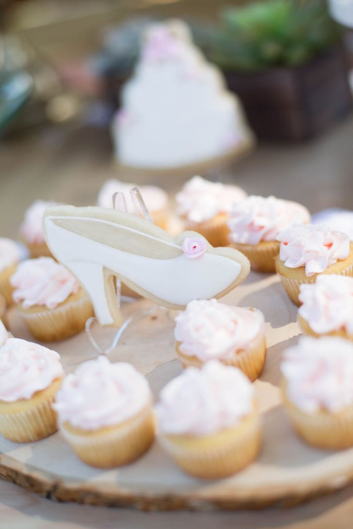 Cupcakes from a Boho Rustic Chic Engagement Party on Kara's Party Ideas | KarasPartyIdeas.com (12)