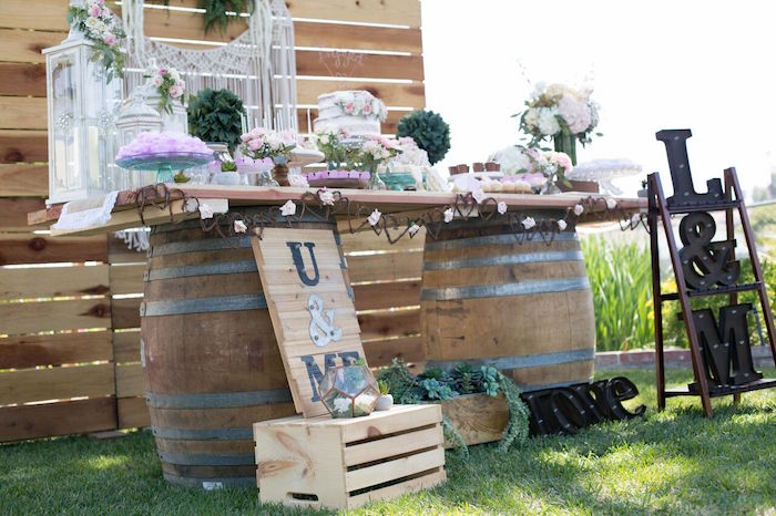 Boho Rustic Chic Engagement Party on Kara's Party Ideas | KarasPartyIdeas.com (10)