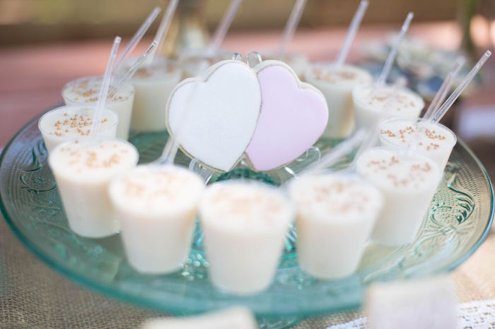 Dessert cups from a Boho Rustic Chic Engagement Party on Kara's Party Ideas | KarasPartyIdeas.com (9)