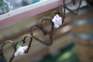 Heart vine garland from a Boho Rustic Chic Engagement Party on Kara's Party Ideas | KarasPartyIdeas.com (8)