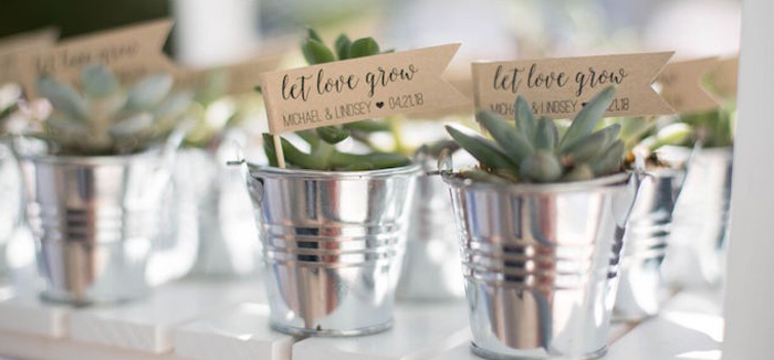 Boho Rustic Chic Engagement Party on Kara's Party Ideas | KarasPartyIdeas.com (4)