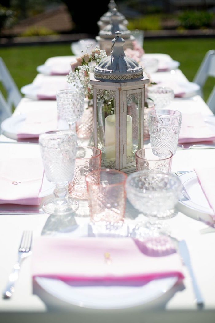 Guest tablescape from a Boho Rustic Chic Engagement Party on Kara's Party Ideas | KarasPartyIdeas.com (40)