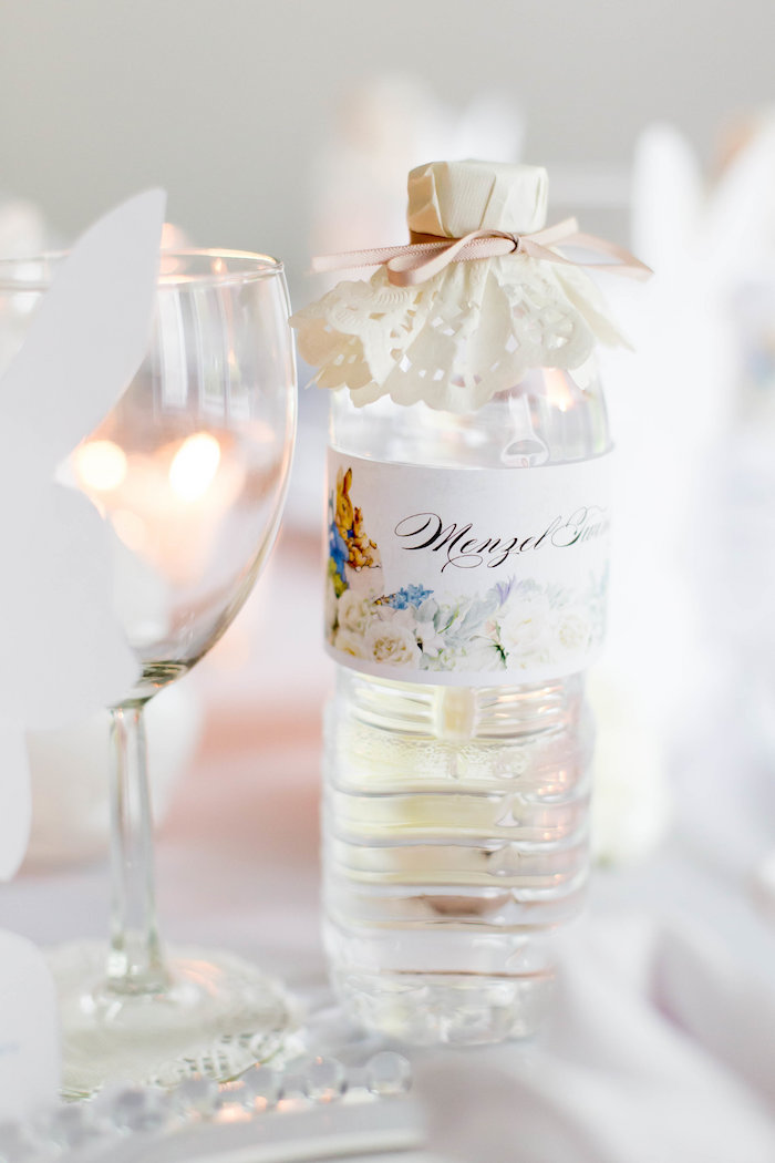 Bunny Water Bottle Label From A Bunny Baby Shower On Karau0027s Party Ideas |  KarasPartyIdeas.