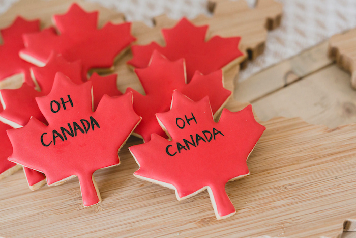 Canadian Maple Leaf Cookies from a Canada Day Celebration on Kara's Party Ideas | KarasPartyIdeas.com (25)