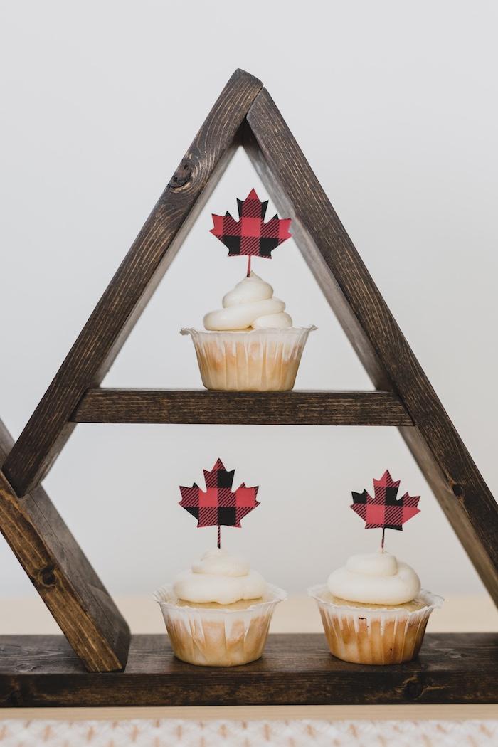 Maple Leaf Cupcakes from a Canada Day Celebration on Kara's Party Ideas | KarasPartyIdeas.com (24)