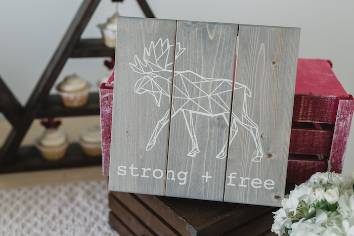 Wooden signage from a Canada Day Celebration on Kara's Party Ideas | KarasPartyIdeas.com (22)