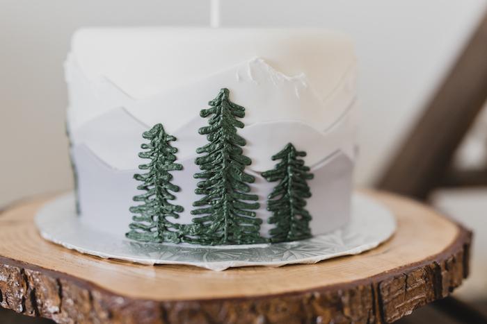 Mountainscape cake from a Canada Day Celebration on Kara's Party Ideas | KarasPartyIdeas.com (20)