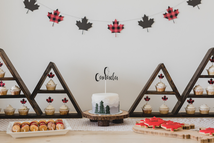 Party table from a Canada Day Celebration on Kara's Party Ideas | KarasPartyIdeas.com (19)