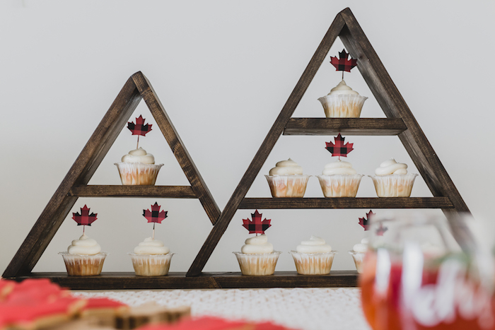 Mountain shelves from a Canada Day Celebration on Kara's Party Ideas | KarasPartyIdeas.com (16)