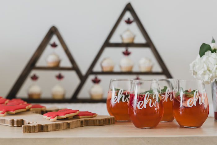 Eh drink glasses from a Canada Day Celebration on Kara's Party Ideas | KarasPartyIdeas.com (15)