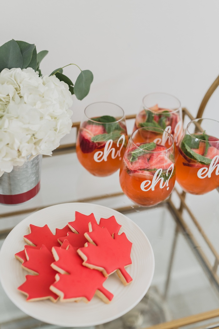 Cookies and cocktails from a Canada Day Celebration on Kara's Party Ideas | KarasPartyIdeas.com (12)