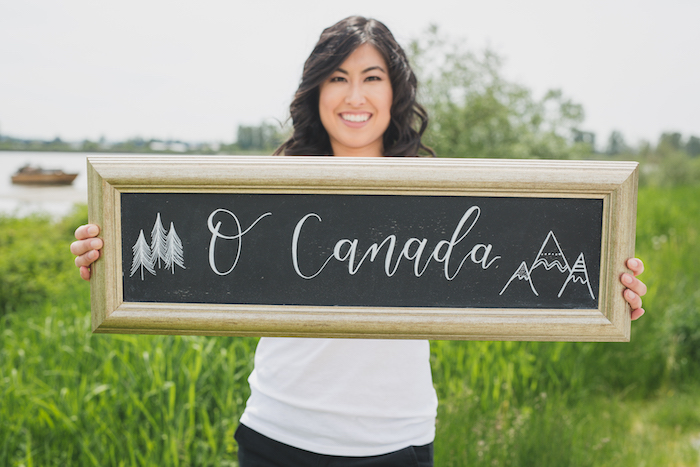 Chalkboard sign from a Canada Day Celebration on Kara's Party Ideas | KarasPartyIdeas.com (8)