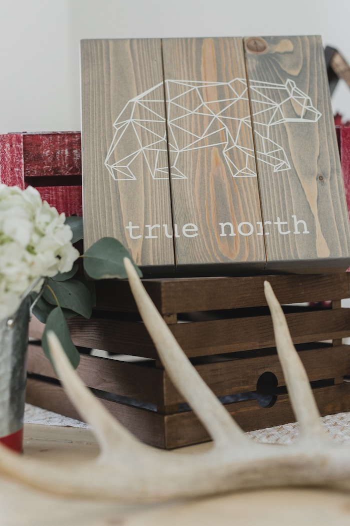 Wooden true north signage from a Canada Day Celebration on Kara's Party Ideas | KarasPartyIdeas.com (28)
