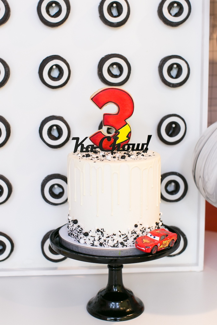 Lightning McQueen Cake from a Cars 3 Birthday Party on Kara's Party Ideas | KarasPartyIdeas.com (18)