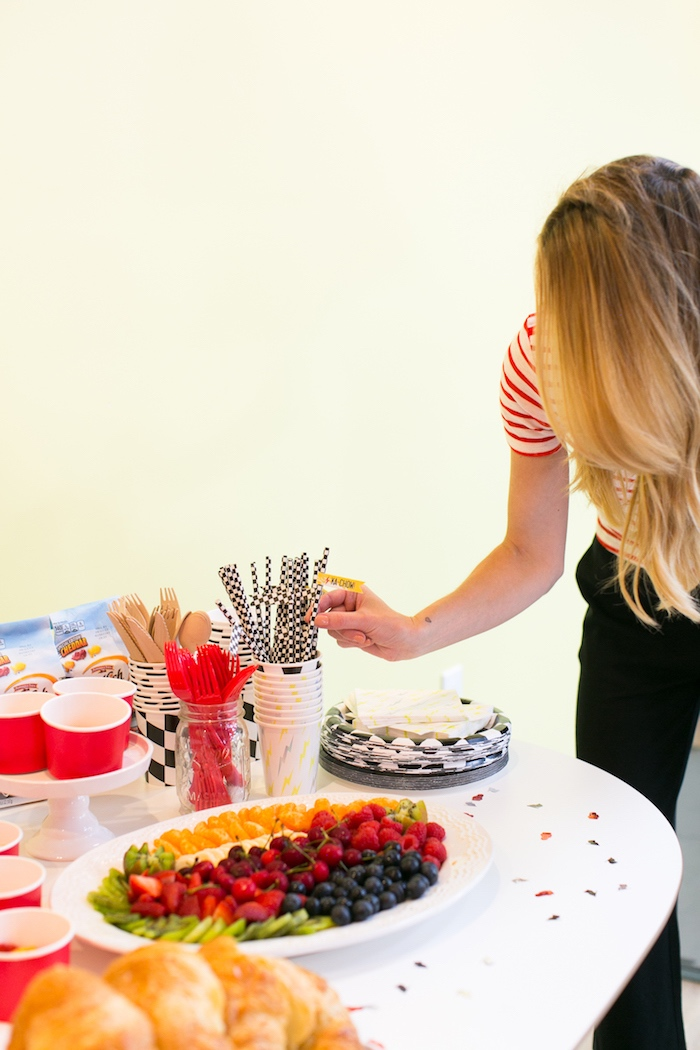 Food table from a Cars 3 Birthday Party on Kara's Party Ideas | KarasPartyIdeas.com (11)