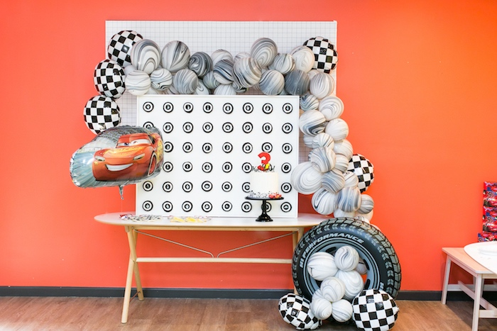 Cake table from a Cars 3 Birthday Party on Kara's Party Ideas | KarasPartyIdeas.com (7)