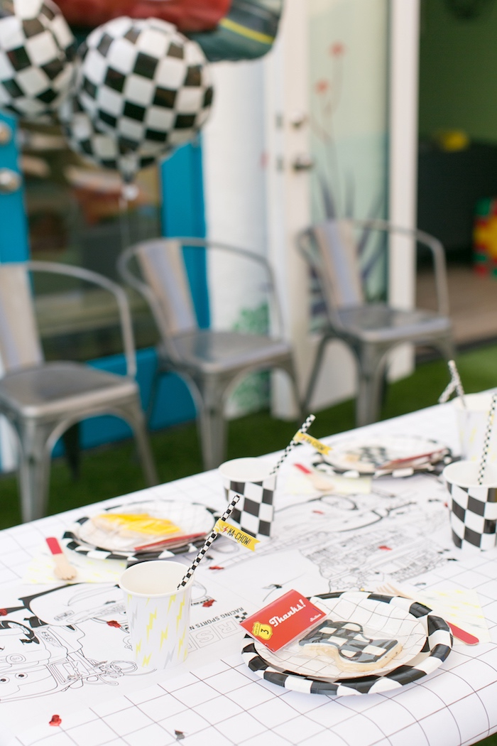 Guest table from a Cars 3 Birthday Party on Kara's Party Ideas | KarasPartyIdeas.com (20)