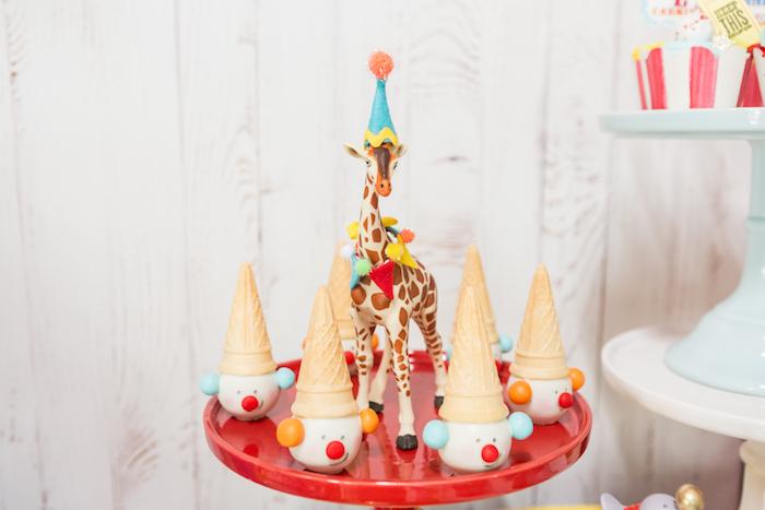 Clown cake pops from a Circus Birthday Party on Kara's Party Ideas | KarasPartyIdeas.com (24)