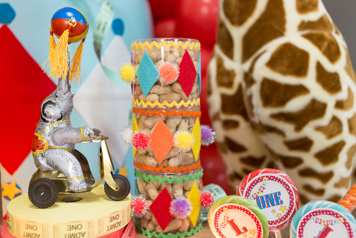 Circus peanuts from a Circus Birthday Party on Kara's Party Ideas | KarasPartyIdeas.com (17)
