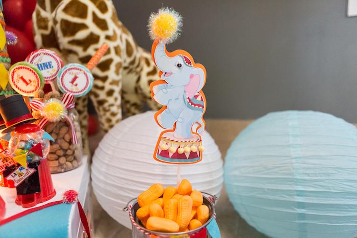 Elephant paper lantern from a Circus Birthday Party on Kara's Party Ideas | KarasPartyIdeas.com (16)