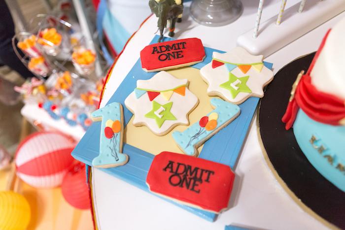 Circus cookies from a Circus Birthday Party on Kara's Party Ideas | KarasPartyIdeas.com (34)