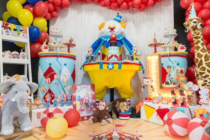 Animals and decor from a Circus Birthday Party on Kara's Party Ideas | KarasPartyIdeas.com (12)