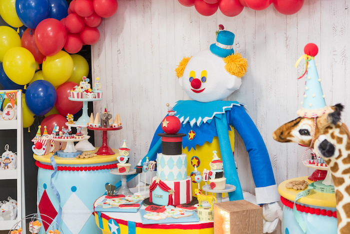 Party tables from a Circus Birthday Party on Kara's Party Ideas | KarasPartyIdeas.com (11)