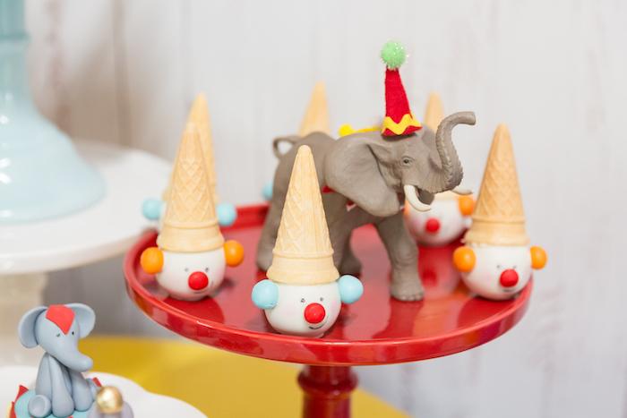 Clown cake pops from a Circus Birthday Party on Kara's Party Ideas | KarasPartyIdeas.com (30)